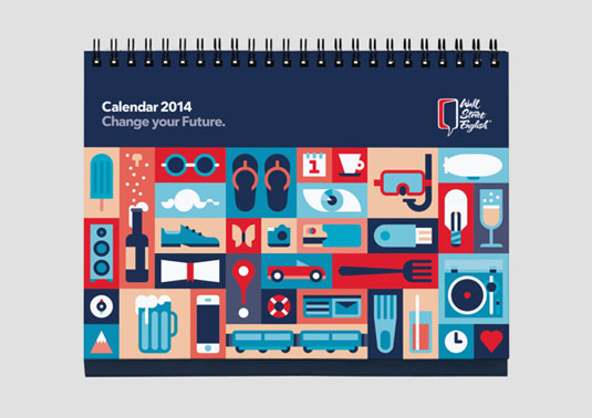 We love the vector style of these calendar illustrations