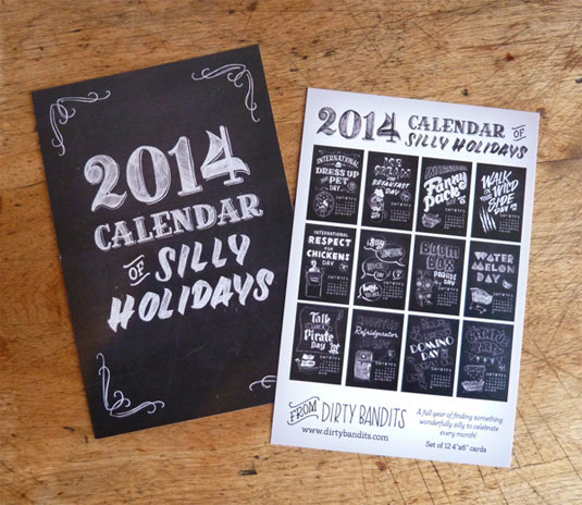 A calendar design packed full of silly holidays